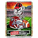 The Northwest Company Georgia Bulldogs 'Home Field Advantage' Woven Tapestry Throw Blanket, 48' x 60' , Red