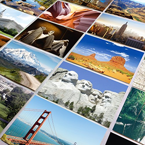 US National Parks and Landmarks - Set of 25 standard 4x6 postcards capturing the beauty of America�s most famous National Parks and man made landmarks - Each photo post card has a unique image