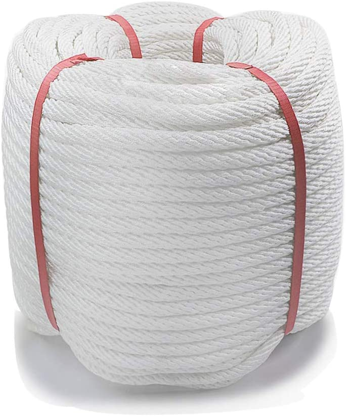 White Pull Rope Cord 1//2 inch x 328 Ft Aoneky Nylon Rope