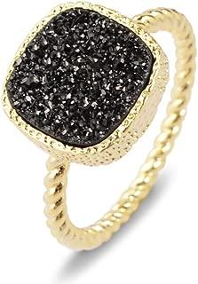 black geode ring