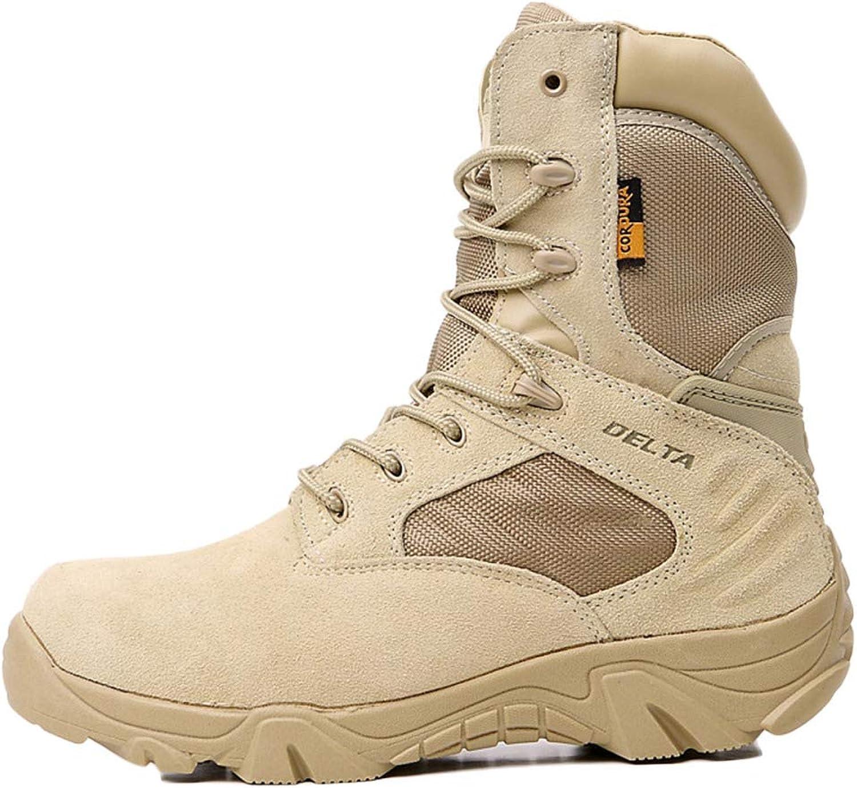 WEGCJU Boots, Men's Martin Boots High-top Retro Military Boots