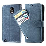 Asuwish Galaxy Note 3 Wallet Case,Luxury Leather Phone Cases with Credit Card Holder Slim Kickstand Stand Flip Folio Protective Cover for Samsung Galaxy Note 3 Note3 Women Girls Men Blue