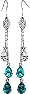 Neoglory Jewelry Mother's Day Gift Teardrop Crystal Three Colors Drop Earrings 3.14