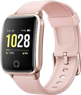 Smartwatch Mujer Reloj Inteligente, Pulsera de Actividad Inteligente Pulsómetro GPS, Monitor de Sueño Impermeable IP68 Cal...