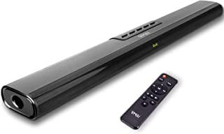 Riiai TV Sound Bar Wired and Wireless Computer Bluetooth Soundbar Speaker Home Theater System Television Subwoofer Sound Box FM Radio Support 3.5mm AUX TF Soundbar
