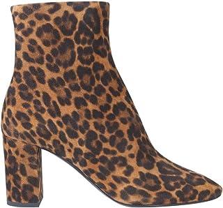 Luxury Fashion | Saint Laurent Women 5865011FL002198 Brown Suede Ankle Boots | Autumn-winter 19