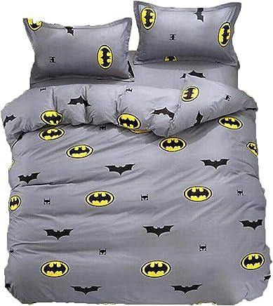 UOUL Juego De Sábanas Juego De Sábanas Fundido Funda Nórdica Hipoalergénica Juvenil Simple Tendencia Familia Batman King,Batman,Full