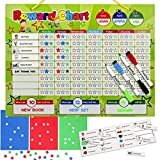 [DasKid]DasKid Magnetic Reward Chart Set, Includes: 20 Magnetic Chores, 240 Magnetic Stars & 3 Color Dry Erase [並行輸入品]