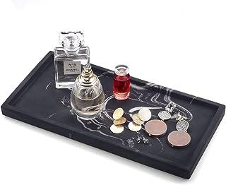 FREELOVE Concrete Serving Tray, Cement Serving Platter Bathroom Holder Vanity Trays Jewelry Dish Cosmetics Organizer Towel...
