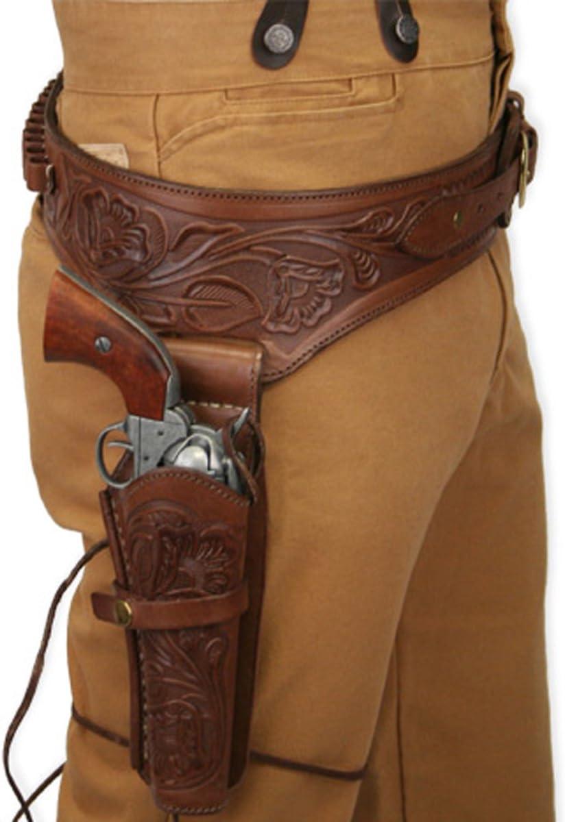 Historical Emporium Men's Right Hand Western Kansas City Mall Tooled Gun Leather Spasm price