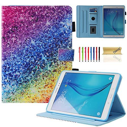 Dteck - Funda de Piel sintética con Tapa para Samsung Galaxy Tab A de 9,7 Pulgadas, SM-T550, Ultrafina, Colorida, con función Atril #09 Colorful Sand