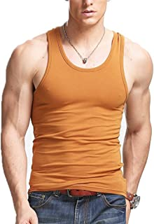 XSHANG Mens Crew Neck Short Sleeve Gym Fitness T Shirts Muscle Slim Fit Tee Shirt