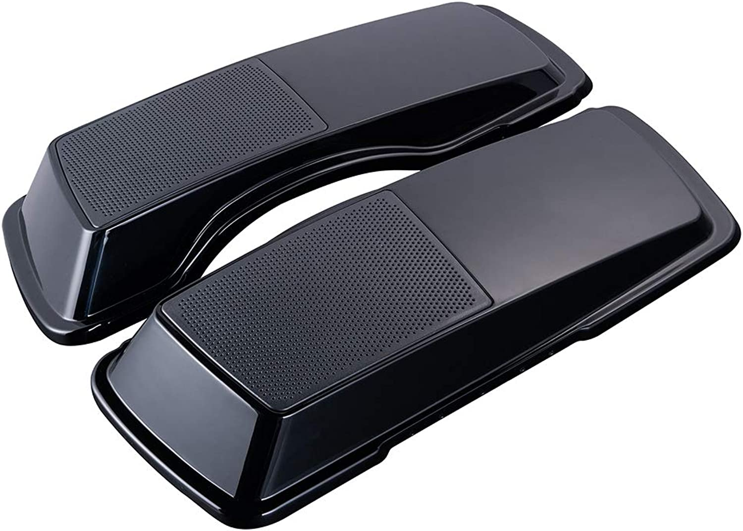 IN STOCK  Advanblack Vivid Glossy Black 6  x 9  Saddlebags Lids Speakers Audio Cover Fit 19932013 Harley Touring Models Road Glide Street Glide