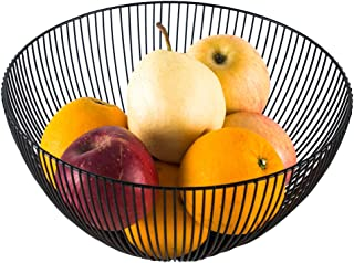 Fruit Dish Round Fruit Basket Metal Wire Vegetable Bowl Creative Stylish Candy Dish for Living Room