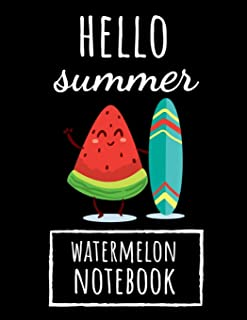 Hello Summer: College Ruled Watermelon Journal / Notebook / Notepad / Diary, Watermelon Gifts Ideas, Perfect For School