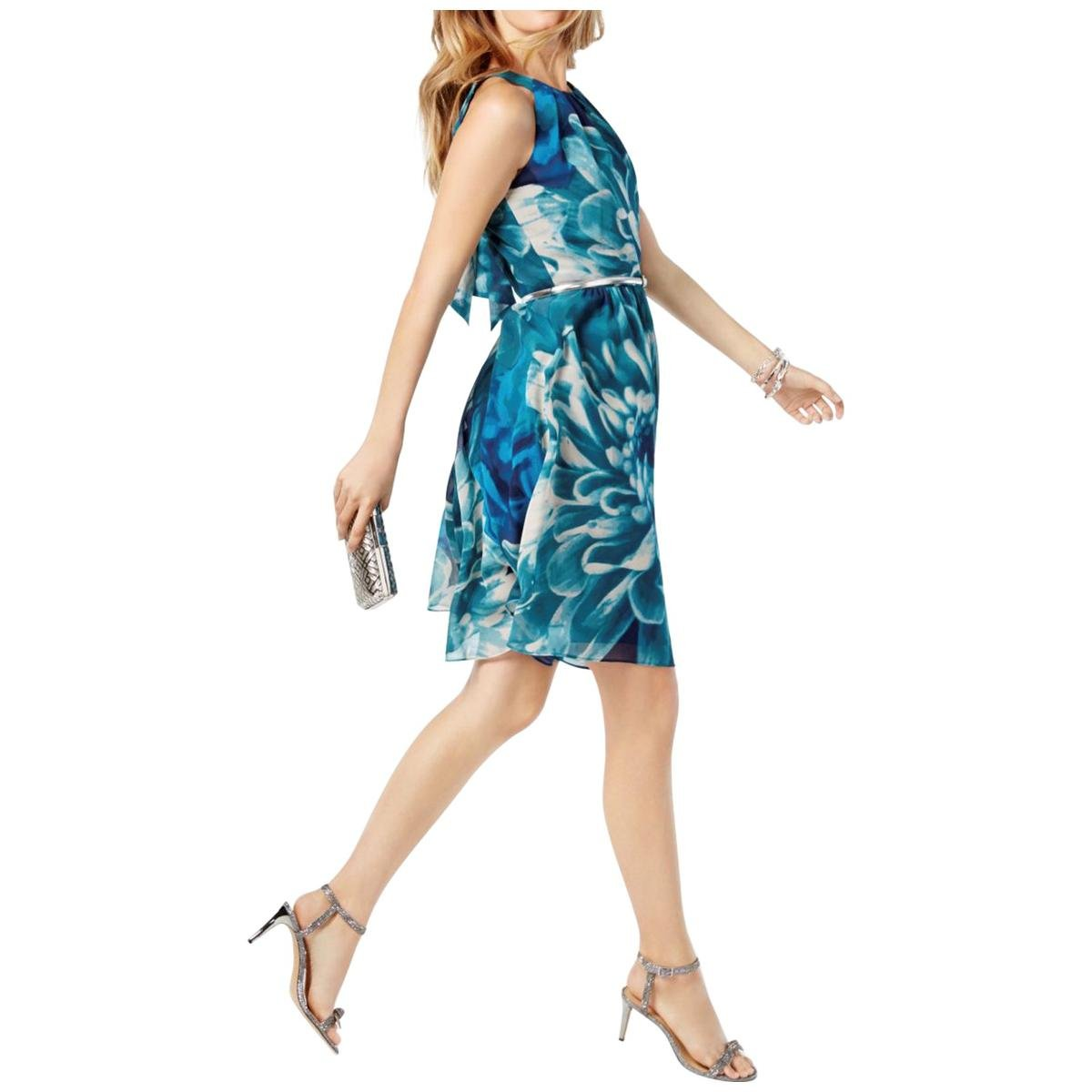 Available at Amazon: I-N-C Women's Belted A-line Dress Green 10