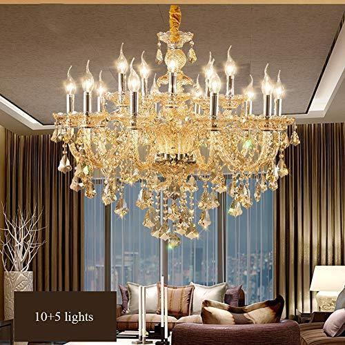 15 Arm Kronleuchter, Kristallglas Kronleuchter Kronleuchter Deckenleuchte Für Esszimmer, Schlafzimmer, Wohnzimmer
