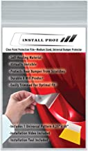 Install Proz Clear Paint Protection Film-Medium Sized, Universal, Rear Bumper Protector