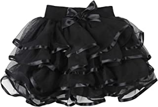 Little Big Girls Tutu Skirt 4-Layered Tulle Holiday Party Dress Up Skirts 2-13 Years
