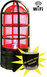 Ice Hockey Goal Light & Horn Sounds and Lights red When Your Team Scores. Linked to & Compatible with All Arena Scoreboard Systems. Use with Any Mobile Device or Desktop pc on WiFi Network