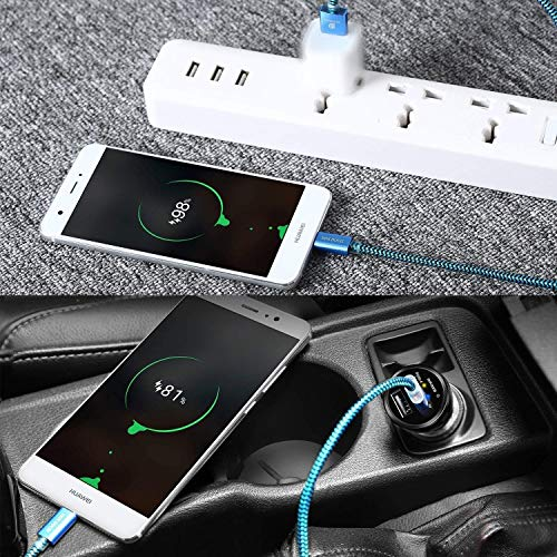 DUX DUCIS Kabel [2 Stück 1M] für Huawei P30 / Huawei P30 Pro/Huawei P30 Lite, Durable Nylon Supercharge USB C Ladekabel für All Huawei Type C Device - 2