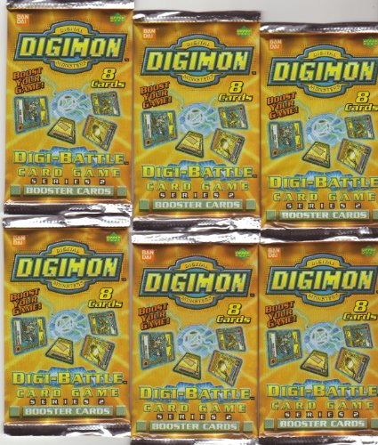 Digimon Serie 2 Booster-Pak: 6 Digimon Booster mitje 8 Karten pro Packung / DIGI-Battle Card Game (Englisch)