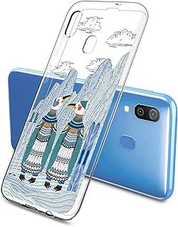 Oihxse Funda Dibujos Animal Lindo Compatible Samsung Galaxy J6 2018 Carcasa Transparente Clear Silicona TPU Gel Suave Case...