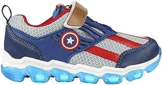 CERDÁ LIFE'S LITTLE MOMENTS Cerdá-Zapatilla con Luces del Capitán América de The Avengers de Color Azul, Niños