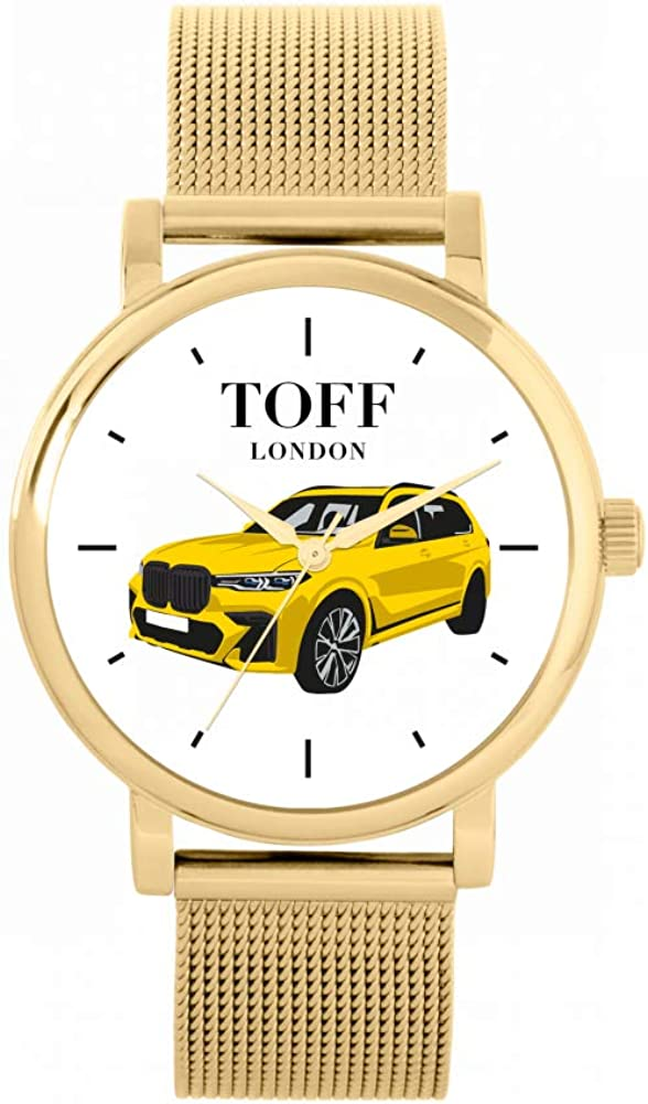 Toff Brand Cheap Sale Venue London Yellow 4x4 Watch Manufacturer regenerated product Ladies Case Water Resista 3atm 38mm