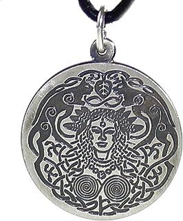 Kiss of Leather Zierlicher Hexen Anh/änger aus 925 Sterling Silber mit Baumwollband