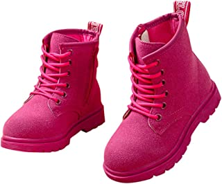 FC Girls Ankle Length Boots in Fuchsia Colour