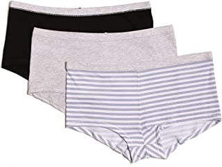 b9de9bfe5123 Hanes Women's Boy Short Panties with ComfortSoft® Waistband and No Panty  Lines 3-Pack