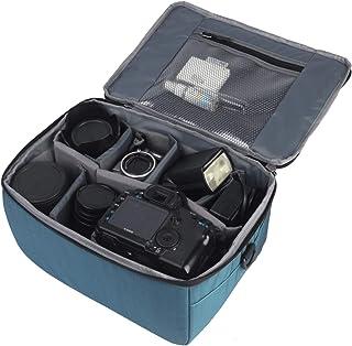 Partición A Prueba de Golpes Impermeable Cámara Acolchada Bolsas Caso Protección Insertar DSLR SLR con Top Asa y Bandolera Ajustable para Lentes Shot o Luz de Flash