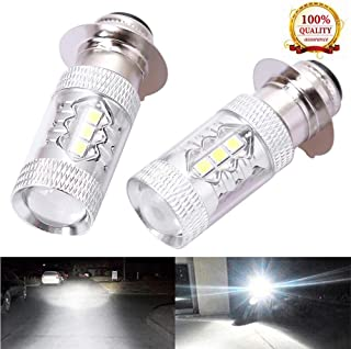 Hoypeyfiy 2x Headlights For Yamaha Raptor 125 250 660R 700R YFM660R LED Bulbs 6000K White