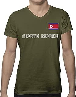 SpiritForged Apparel North Korea Soccer Jersey Men's V-Neck T-Shirt