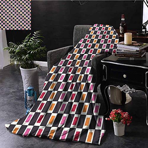 GGACEN bank deken geometrische vormen Rhombus rechthoeken in levendige kleur regeling met Zigzags zachte zomer koeling lichtgewicht bed deken