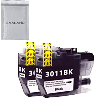 Replace Brother LC3011 Black Ink Cartridge 2 Pack Compatible LC3011BK for MFC-J491DW MFC-J497DW MFC-J690DW MFC-J895DW Printer