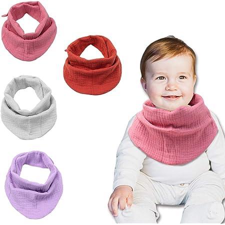 Waterproof Dribble bibs Baby Bandana bibs Baby burp clothes Organic Baby shower gift Muslin bibs Soft cotton and Waterproof Super absorbent