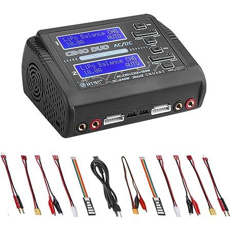 ZHITING Cargador LiPo Descargador Dual AC150W DC240W 10A C240 1-6S Duo Balance Cargadores de batería para Li-Ion Life NiCd NiMH LiHV PB Smart Battery