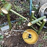 QXPuSS Garten Wasserspucker, Bambus Wasserspiel Brunnen, Japanischen Stil, Für Teich Pool Terrasse Balkon-70 cm