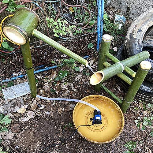 QXPuSS Garten Wasserspucker, Bambus Wasserspiel Brunnen, Japanischen Stil, Für Teich Pool Terrasse Balkon-85 cm