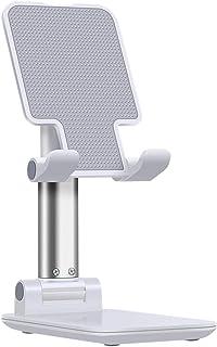 Suporte de celular ajustável, suporte de telefone portátil dobrável para mesa de mesa, suporte de telefone ajustável com a...