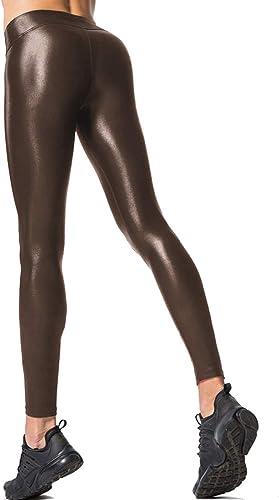 popular RIOJOY Women's Fleece Lined Leggings Winter outlet sale Warm Sexy Butt lowest Lifting Faux Leather Legging sale