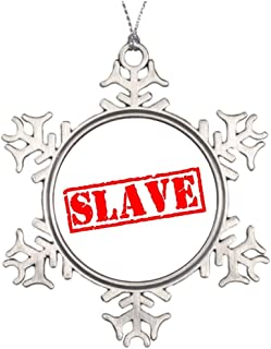 Grayby Best Friend Snowflake Ornaments Slave Blank One size