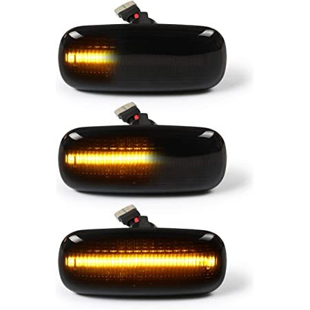 Oz Lampe Led Dynamische Led Seitenblinker Blinker 2 X Bernstein 18 Smd Mit Nicht Polarität Can Bus Fehlerfrei Oe Buchse Rauch Für Aud I A3 S3 A4 S4 A6 S6 A8 D3 Tt 8j Auto
