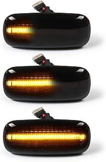 OZ LAMPE LED Dynamische LED Seitenblinker Blinker 2 X Bernstein 18 SMD mit Nicht Polarität CAN Bus Fehlerfrei OE Buchse Rauch Für Aud i A2 A3 A4 A6 A8 TT 8N