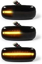 Intermitentes laterales LED OZ-LAMPE 2 X dinámica LED Intermitentes laterales ámbar 18 SMD con no polaridad CAN-bus Libre de errores OE Socket Fumar para Aud-i A2 A3 A4 A6 A8 TT 8N