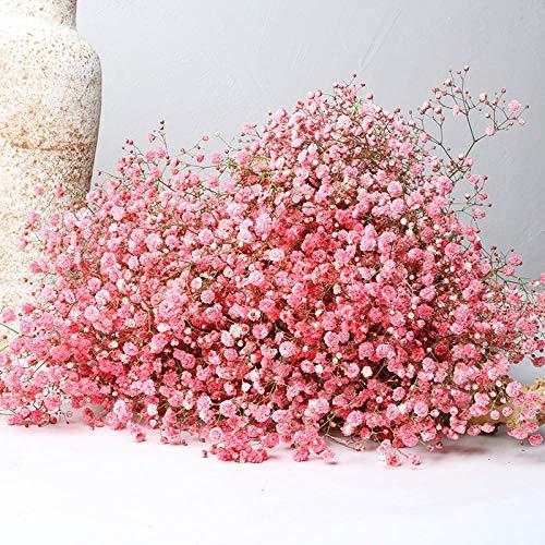 vermers Flores Artificiales para la decoraci¨®n, Gypsophila Bouquet Decor Arreglos Florales realistas Decoraci¨®n de la Boda Centros de Mesa 1 Paquetes (Color m¨²ltiple)-Rojo