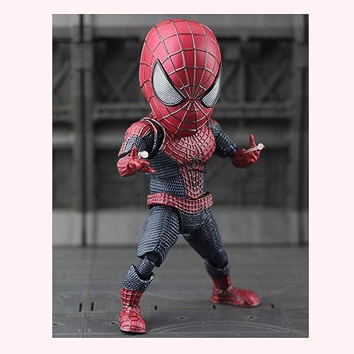 Tienda de moda y compras online. XLYAN Diamond Select Toys Spiderman Extraordinario Extraordinario Extraordinario Estatua PVC Q Versión Spiderman PVC Figure,Movimiento Articular Todo El Cuerpo,Base,18CM  comprar barato