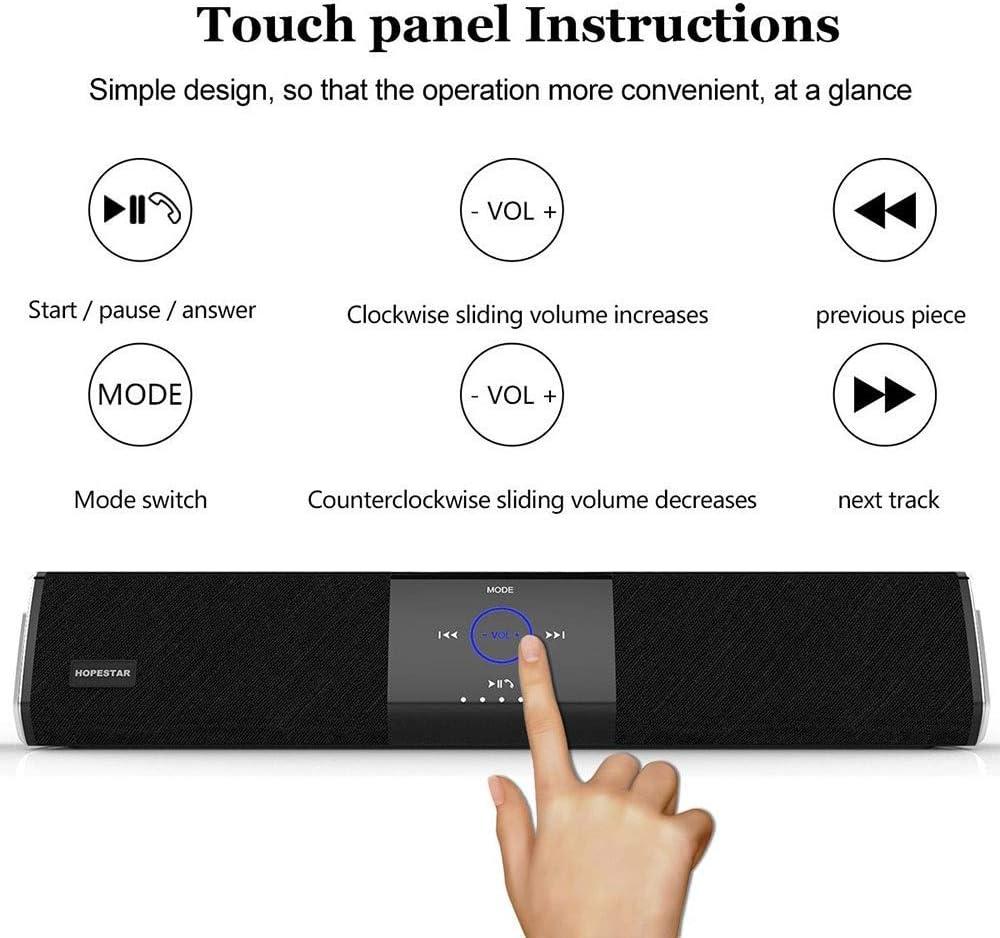 WANGCY Le Haut-Parleur Bluetooth A3 20w Haute Puissance étanche contrôle Tactile Longue Carte Son de cinéma Maison Vous apporte Une Excellente expérience Noir